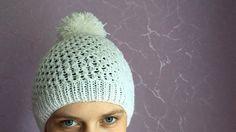 Как связать шапочку (шапку) спицами для взрослого - YouTube