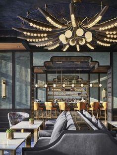 modern restaurant Gallery of Rosewood Bangkok / KPF - 17 Bar Interior, Restaurant Interior Design, Commercial Interior Design, Commercial Interiors, Decor Interior Design, Restaurant Interiors, Bar 25, Café Bar, Deco Restaurant