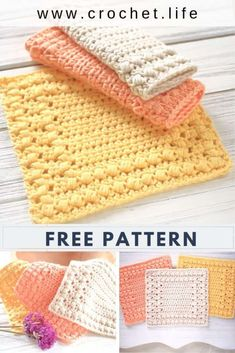 Cottage Square DIY Crochet Dishcloth - Free crochet washcloth pattern by GoldenS. Cottage Square D Diy Crochet Dishcloth, Crochet Scrubbies, Crochet Home, Knit Or Crochet, Easy Crochet, Free Crochet, Crochet Geek, Beginner Crochet, Crochet Dishcloths Free Patterns