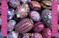 Printable calendars 2018 Instract Download calendars Pysanky