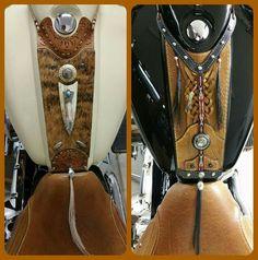 Kings Mountain leather bibs ! Motorbike Parts, Bagger Motorcycle, Motorcycle Seats, Motorcycle Leather, Leather Art, Saddle Leather, Kawasaki Drifter, Indian Motors, Kings Mountain