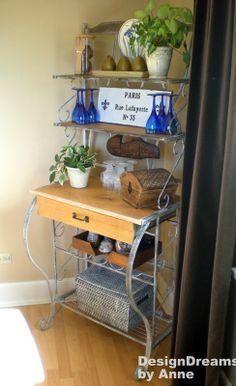 DesignDreams by Anne: Baker's Rack Makeover - Industrial Look