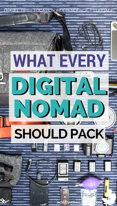 Being a digital nomad requires advanced packing skills. If you haven't mastered the art of efficient packing just yet, here is a packing list that giv. Id Digital, Efficient Packing, Packing Tips For Travel, Vacation Packing, Travel Checklist, Travel Ideas, Work Travel, Time Travel, Blog Logo