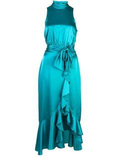 Cinq A Sept ruffled cocktail dress - Blue Green Formal Dresses, Green Wedding Dresses, Wedding Dress Chiffon, Elegant Dresses, Sexy Dresses, Blue Dresses, Casual Dresses, Dresses For Work, Summer Dresses