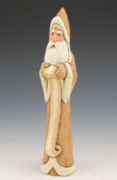 Santa Claus and His Nice List - 8.5 inch, Ellis Olson -- Would make nice santa using cypress knee