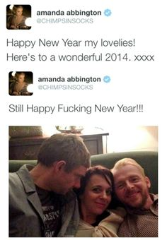 I am jealous, Amanda. But in a good way. I'd like to spend NYE with Martin Freeman and Simon Pegg! :O