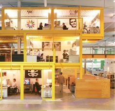 TBWA\Chiat\Day Advertising firm's office constructed from cargo containers. Coolest office I've eve seen.