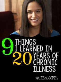 "20 YEARS of illness! and what have I learned? I have learned to push thru the pain so you have memories and to say, ""yes, please, drop me off at the door."" And a whole lot more. Hope this article blesses you as I share what I have discovered from age 24 through the last 2 decades of #invisibleillness @lisacopen"