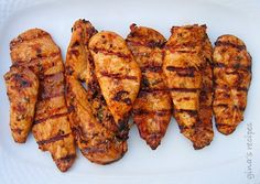 I love spring! It's so nice to get outside and use my grill. Here is a tasty Asian inspired recipe for grilled chicken recipe I love to make when the weather