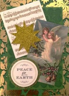 Anna Griffin Angelic Card Toppers  |  http://www.lagcraftstudio.com/collections/christmas/products/peace-on-earth