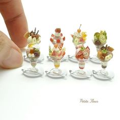 Miniature, Ice-Creams. Looks so cute, real, and creative. ❤