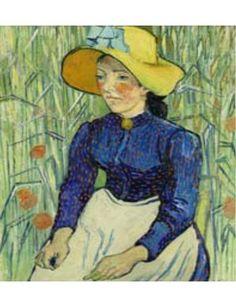 Vincent Van Gogh Portrait of a Young Peasant Girl, 1890