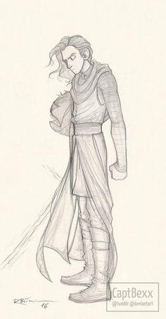 Kylo Ren sketch by CaptBexx on DeviantArt