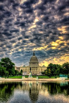 Sunset at the Capitol in Washington, DC, USA
