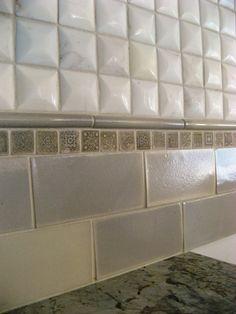 Crema bordeaux granite with subway tile google search for Dimensional tile backsplash