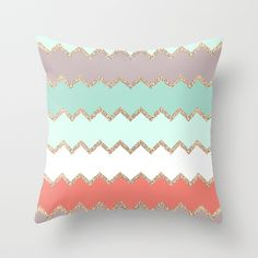 AVALON CORAL Throw Pillow by Monika Strigel | Society6