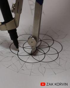 Easy Mandala Drawing, 3d Art Drawing, Simple Mandala, Mandala Art Lesson, Mandala Artwork, Mandala Painting, Art Drawings Sketches Simple, Mandala Sketch, Watercolor Mandala