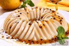 Receita de Manjar de coco com calda de maracujá em Doces e sobremesas, veja essa e outras receitas aqui!