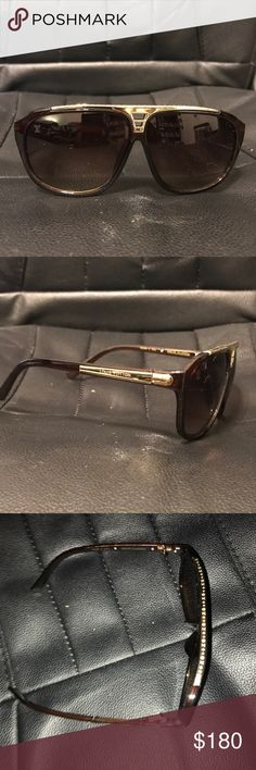0a79fcc011b Shop Men s Louis Vuitton Brown Gold size OS Glasses at a discounted price  at Poshmark.