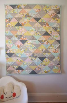 counterpane - Counterpane Craft Journal - Simpatico Modern Flying Geese Quilt