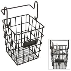 Modular Black Metal Mesh Wire Hanging Kitchen & Dining Utensils Storage Basket / Bathroom Toiletries Holder Basket MyGift http://www.amazon.com/dp/B00T3YLZ2G/ref=cm_sw_r_pi_dp_SjBCvb1CNGDEW