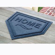Waterhog™ Home Plate Mat Entry Door Mat from Brookstone.