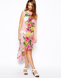 Image 1 of Ted Baker Placement Print Peneey Cover Up Dress