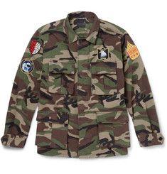 Saint Laurent - Camouflage-Print Cotton Field Jacket