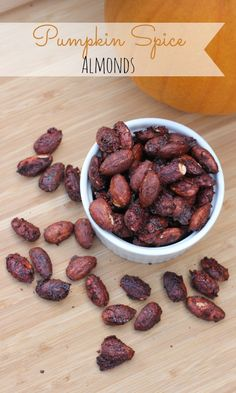 Pumpkin Spice Almonds Recipe  I use sugar free maple syrup instead of agave or honey.