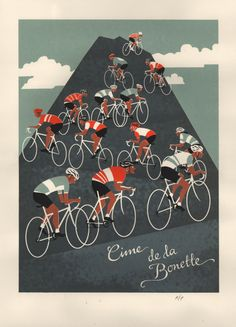 Eliza Southwood: 'Cime de la Bonette' Limited Edition A2 6-colour screen print.