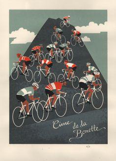 nickrearden:Eliza Southwood: 'Cime de la Bonette' Limited Edition A26-colour screen print. Exclusive from @goatstolen