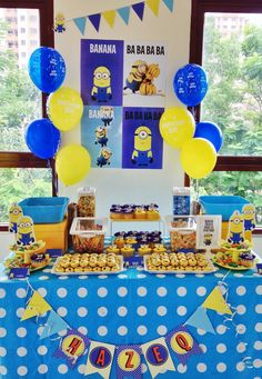 #minion theme party #minions sweet treats