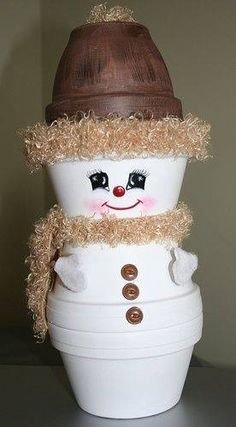 Crafts Clay Pots Snowman 2005 is part of Clay pot crafts - Crafts Clay Pots Snowman 2005 Flower Pot Christmas Tree This simple Christmas clay pot craft c Christmas Clay, Christmas Projects, Holiday Crafts, Christmas Holidays, Christmas Decorations, Christmas Snowman, Simple Christmas, Christmas Trees, Kids Crafts