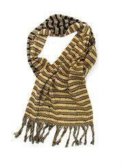 Zina Scarf | Beige 'n' black | Chiapas Bazaar | Handmade Mexican Blouses, Accessories & Home Decor from Rural Artisans