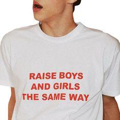 4379facad Raise Boys And Girls The Same Way Tshirt, tumblr shirt, tumblr clothing,  vaporwave shirt, aesthetic tshirt, rave outfit, bff gift