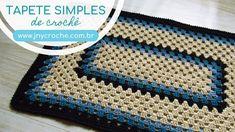 Tapete de crochet- tutorial em vídeo Crochet Table Mat, Crochet Carpet, Crochet Decoration, Crochet Videos, Chevron, Crochet Patterns, Make It Yourself, Blanket, Knitting