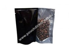 28G CLEAR / BLACK - STAND UP POUCH WITHOUT ZIPPER / FLEXIBLE PACKAGING  Visit at http://www.pouchdirect.net.au/28g-clear-black-flexible-packaging.html