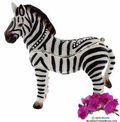 Trinket Box: Charming ZebraTrinket Box