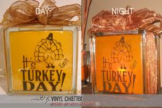 DIGITAL DOWNLOAD - a finished photo showing how the turkey vector designs @ My Vinyl Designer can be used as Thanksgiving vinyl decor (http://www.myvinyldesigner.com/Products/ho065.aspx)