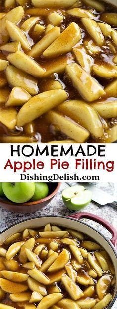 Gluten Free Apple Pie, Apple Pie Recipe Easy, Homemade Apple Pie Filling, Apple Pie Recipes, Homemade Pie, Recipe For Apple Pie Filling, Paleo Apple Pie, Homemade Desserts, Apple Hand Pies