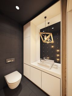 Bathroom lighting ideas for small or large master and guest bathroom. Choose from this article to put together the best bathroom lighting scheme. Guest Bathroom Remodel, Loft Bathroom, Small Bathroom Storage, Simple Bathroom, Modern Bathroom Design, Bathroom Interior Design, Modern Interior, Bathroom Ideas, Rustic Bathroom Lighting