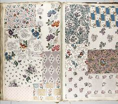 "1860-70, French Textile Sample Book, Height: 18-3/4"" x Width: 14 inches.  Metropolitan Museum of Art"