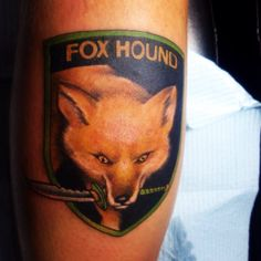 My Foxhound Unit symbol (Metal Gear Solid) By: JR Linton at Ink & Pistons in West Palm Beach, FL