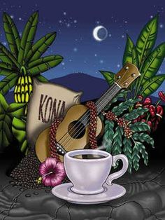 So perfect ~ Moon, Music, flowers, and yes coffee.....perfect date night