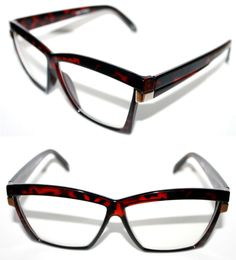 066e9e4be7 Men s Vintage Hip Hop Clear Lens Eye Glasses 80 s Thick Square Brown Gold   Spexx  Square