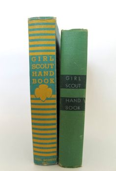 Vintage Girl Scout Handbooks- I have one of these old books from my mom.