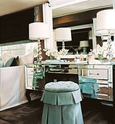 Dressing Table Furniture Categories - Home Design and Home Interior Dressing Table Design, House Design, Mirrored Furniture, Interior, Hollywood Regency Decor, Traditional House, Romantic Room, Home Decor, House Interior