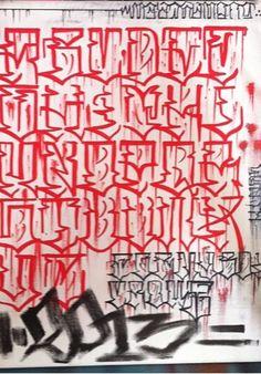 Graffiti Alphabet Fonts, Tattoo Lettering Alphabet, Graffiti Lettering Fonts, Lettering Design, Chicano Tattoos Lettering, Chicano Style Tattoo, Tattoo Lettering Styles, Alfabeto Tattoo, Letras Tattoo