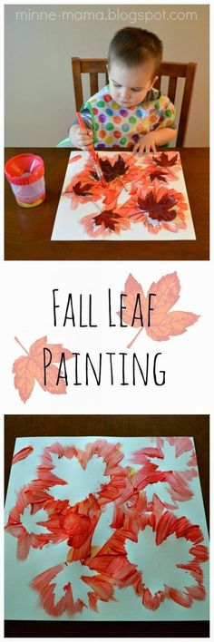 Minne-Mama: fall leaf painting fall crafts for kids, fall leaves crafts, Fall Crafts For Kids, Crafts To Do, Art For Kids, Toddler Thanksgiving Crafts, Fall Art For Toddlers, Kids Diy, Children Crafts, Fall Crafts For Preschoolers, Pine Cone Crafts For Kids