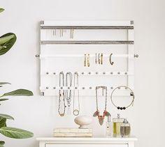 Wall-Mounted Jewelry Hanger